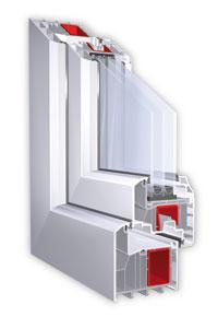 Querschnitt eines Fensters