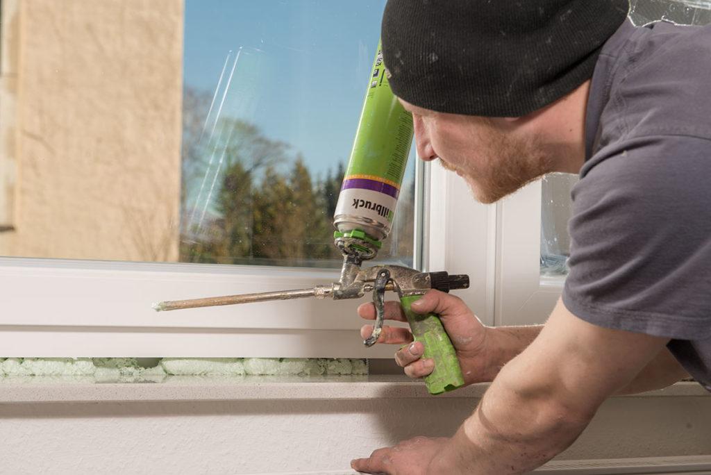 Fensterabdichtung von innen