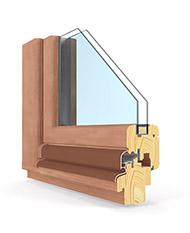 Budvar Holzfenster Querschnitt